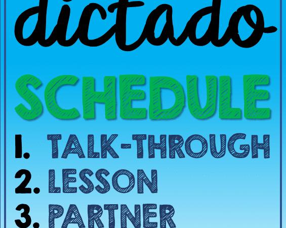 Weekly Dictado Schedule