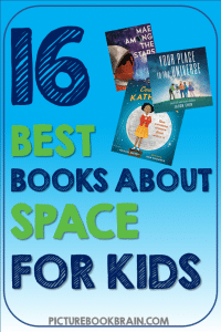 Check out these fiction and non-fiction children's books about space. These books and lesson plans are full of activities and ideas to teach these mentor texts. Books just for fun and others to inform for Kinderarten, first, second, third, fourth or fifth grade. These books for kids Kindergarten through upper elementary are perfect childrens books about space! Children's books about outer space, astronauts, biographies, fiction space exploration adventures, and science fiction.