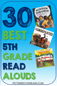 Looking for the best read aloud books for 5th grade? These fun picture book read alouds for 5th grade elementary students are engaging. Fiction and nonfiction books with lesson plans and activities linked. These are the best diverse picture book read alouds for 5th graders. Many of these are award winning children's books about diverse characters, friendships, relationships, and for the whole year of fifth grade!
