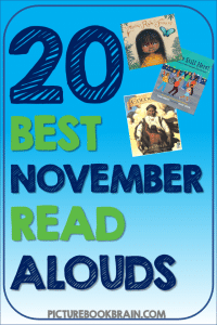 Looking for the best November read alouds for the classroom? These picture books for read alouds in November for elementary students are engaging for primary and upper elementary kids. Books with lesson plans and activities linked. Picture books about various topics such as Veterans Day, Remembrance Day, Thanksgiving, Native American Heritage Month, and more for your kindergarten, first, second, third, fourth or fifth grade students. Your students will delight in these classic and brand new books!